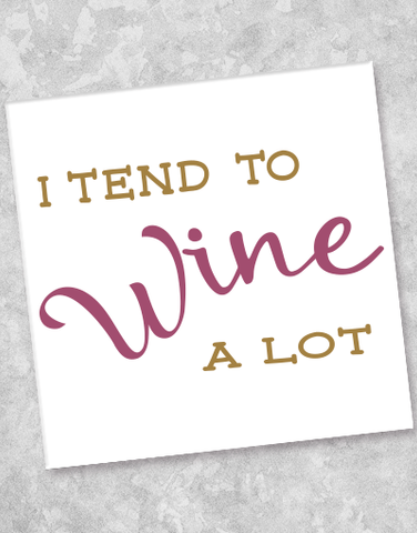 Wine A Lot Beverage Napkins (40 Count)