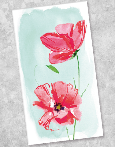 Happy Poppies Guest Towel Napkins (40 Count)