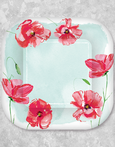 Happy Poppies Dessert Plates (18 Count)