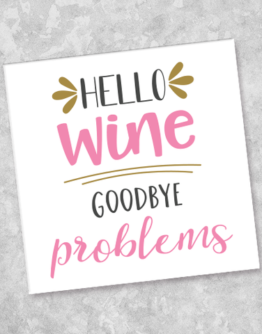 Hello Wine Beverage Napkins (40 Count)
