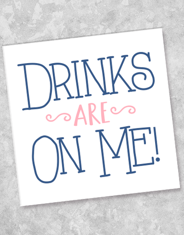 Drinks On Me Beverage Napkins (40 Count)