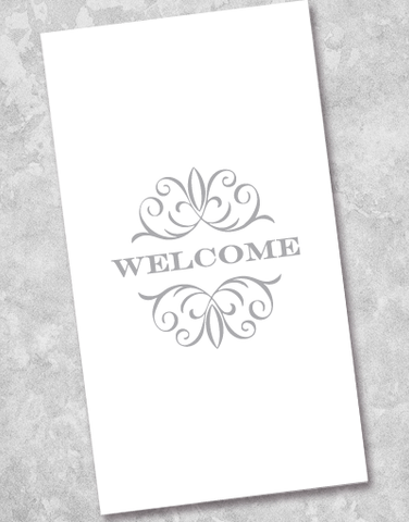 Gilded Welcome Silver Guest Towel Napkins (36 Count)
