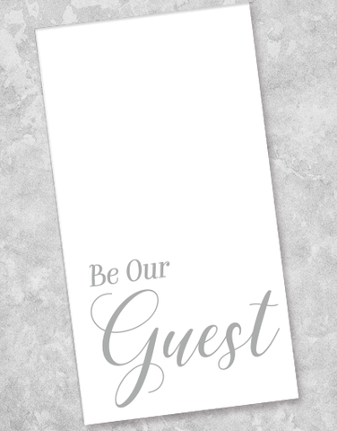 Be Our Guest Silver Guest Towel Napkins (36 Count)