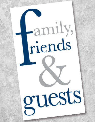 Family Friends & Guests Silver and Navy Guest Towel Napkins (36 Count)