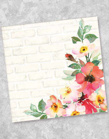 Bricks and Blossoms Luncheon Napkins (36 Count)