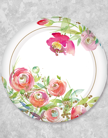 Charming Blooms Dinner Plates (15 Count)