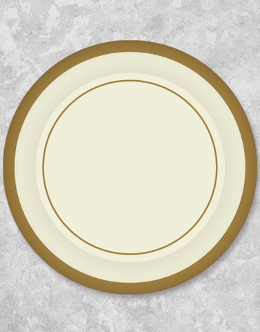 Exquisite Cream Dinner Plates (36 Count)