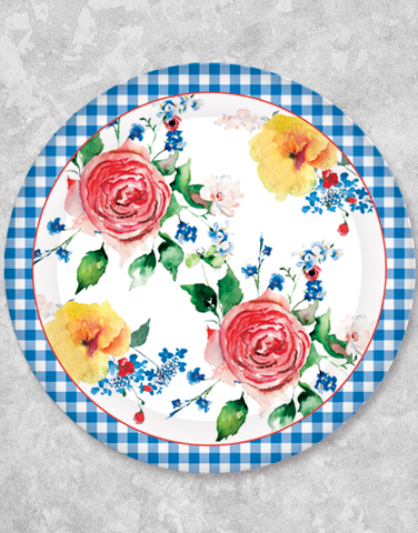 Sophisticated Gingham Dinner Plates (15 Count)