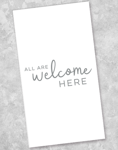 All Are Welcome Guest Towel Napkins (36 Count)