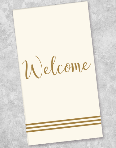 Welcome Stripes Guest Towel Napkins (36 Count)