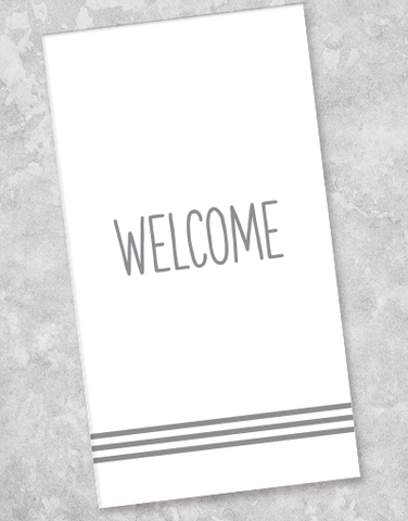 Contemporary Welcome Guest Towel Napkins (36 Count)