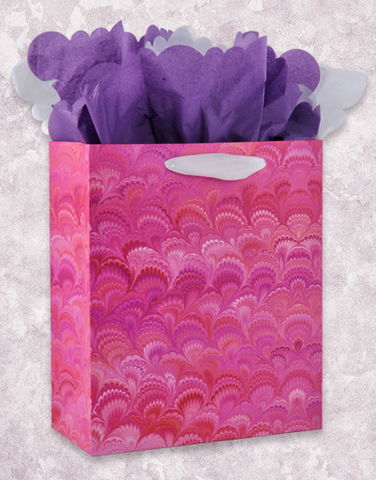 Marbleized Scallops Gift Bags