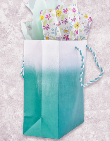 Color Mist Teal Gift Bags