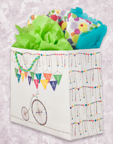 Bicycle Banner Birthday (Market) Gift Bags