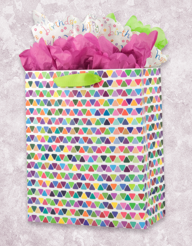 Triangle Stripe (Garden) Gift Bags