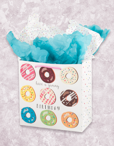 Yummy Donut Birthday (Medium Square) Gift Bags