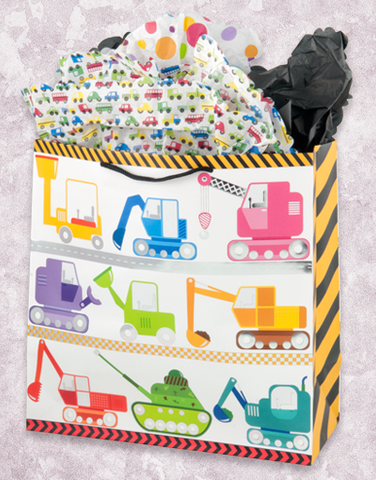 Trucks At Work (Square Jumbo) Gift Bags
