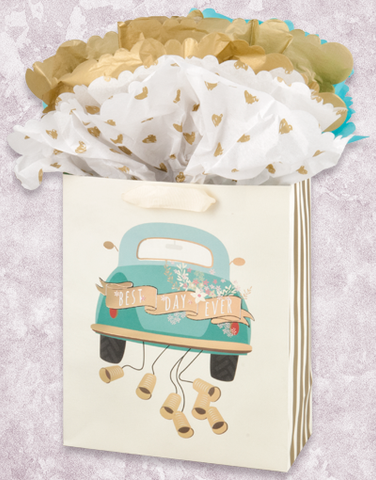Just Married Vintage Car (Garden) Gift Bags