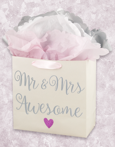 Mr & Mrs Awesome (Medium Square) Gift Bags