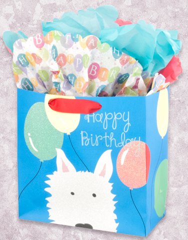 Dog Party Westie (Medium Square) Gift Bags