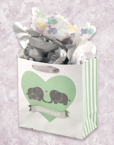 Elephant Love (Medium Square) Gift Bags