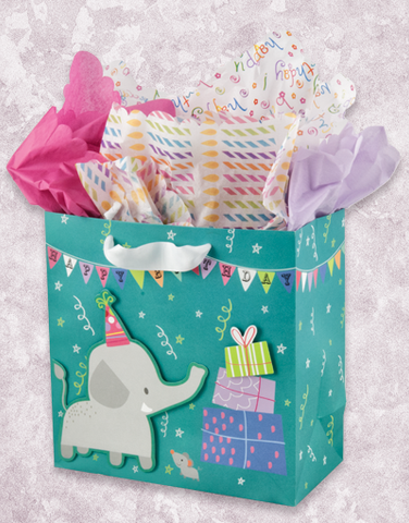 Elephant Party (Medium Square) Gift Bags