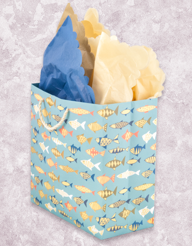 Wonderful Fish (Medium Square) Gift Bags