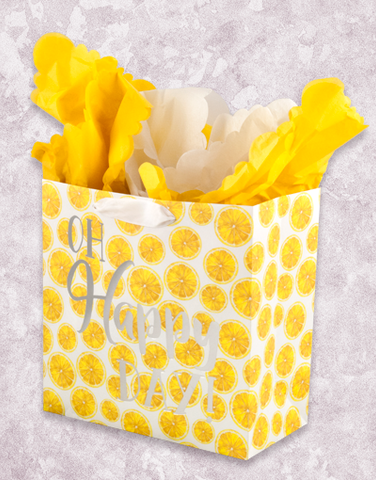 Happy Day Lemons (Medium Square) Gift Bags
