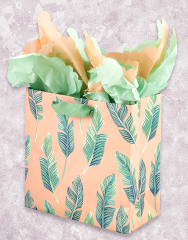 Peachy Breeze (Medium Square) Gift Bags
