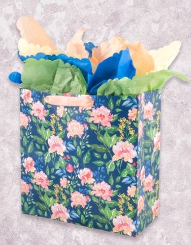 Simple Watercolor Florals (Square Jumbo) Gift Bags