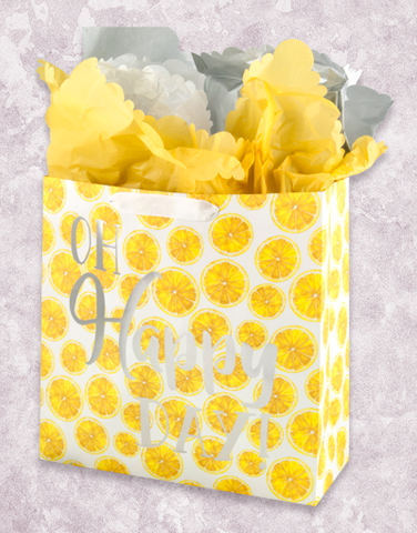 Happy Day Lemons (Square Jumbo) Gift Bags