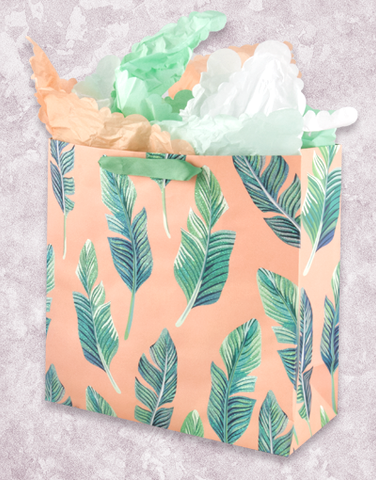 Peachy Breeze (Square Jumbo) Gift Bags