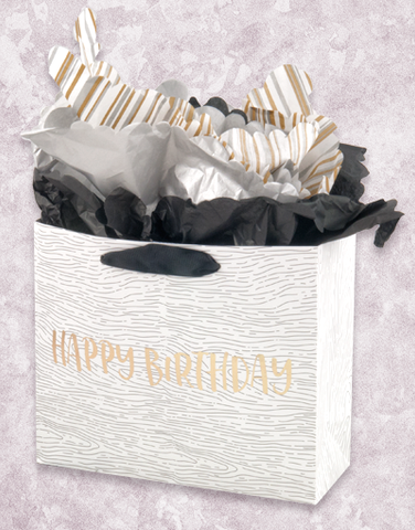 Woodgrain Birthday (Studio) Gift Bags