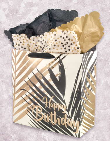 Palm Birthday (Square Jumbo) Gift Bags