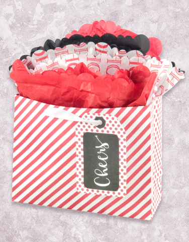 Red & White Stripe (Market) Gift Bags
