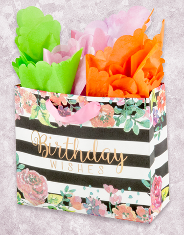 Striped Floral Birthday (Studio) Gift Bags