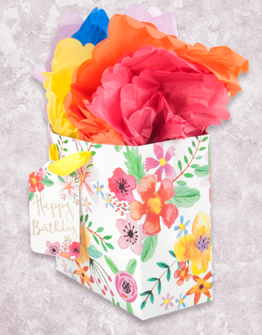 Fabulous Flowers (Medium Square) Gift Bags