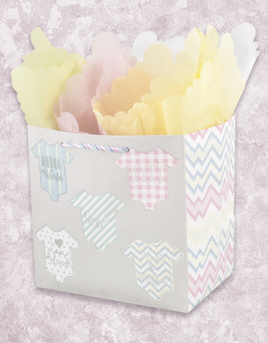 Adorable Onesies (Medium Square) Gift Bags