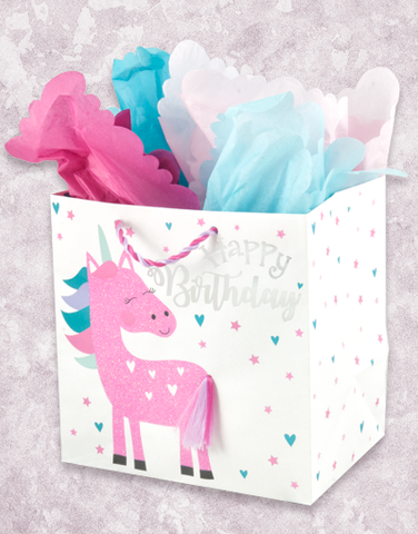 Cute Unicorn (Medium Square) Gift Bags