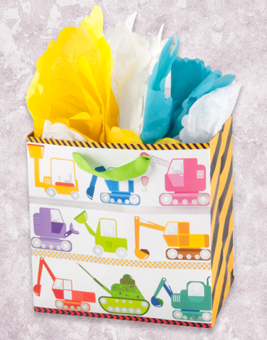 Trucks At Work (Medium Square) Gift Bags