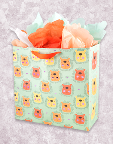 Lovely Lions (Medium Square) Gift Bags
