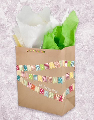 Happy Day Flags (Garden) Gift Bags