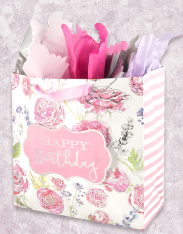 Romantic Flowers (Square Jumbo) Gift Bags