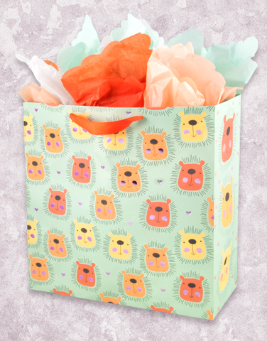 Lovely Lions (Square Jumbo) Gift Bags