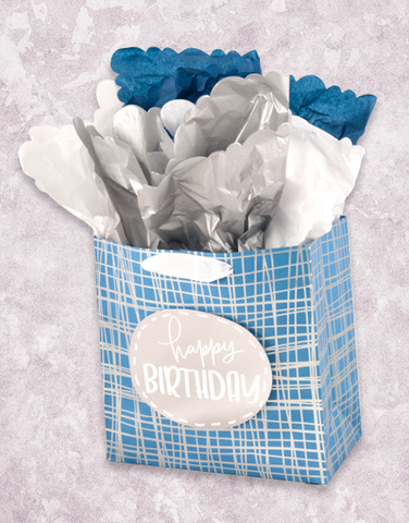 Crosshatching Birthday (Medium Square) Gift Bags