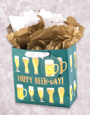 Happy Beer-Day (Medium Square) Gift Bags