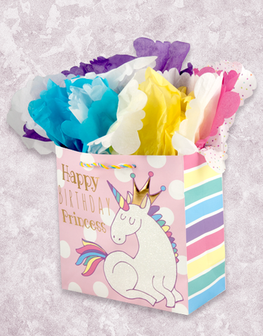 Unicorn Princess (Medium Square) Gift Bags