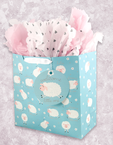 Likeable Lambs (Square Jumbo) Gift Bags
