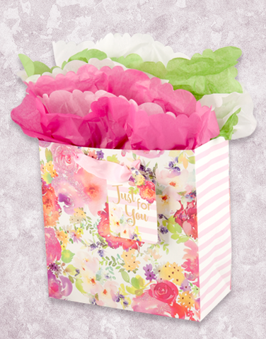 Beautiful Floral (Medium Square) Gift Bags