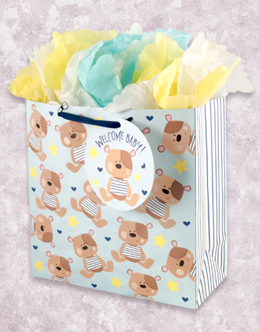 Patched Teddy Bears (Square Jumbo) Gift Bags